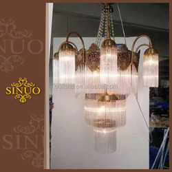 Hot sale luxury energy saving antique brass chandelier