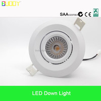 9W Hotsales dimmable led downlight 70 to 90mm cutout size