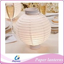 """12"""" White LED Round Paper Battery Lantern (10 PACK)"""