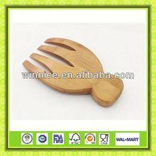 New design bamboo antique carved wooden bowl salad server