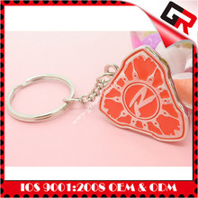 We can produce any your design metal Silkscreen Printed Logo high quality game keychain