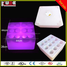 Remote Control 16Colors Flashing LED Cube Wine Holders LED Colors Changing Square Ice Bucket