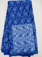 guipure lace for african party,african lace fabric,latest design in 2015, citilace, J386-10 royalblue color