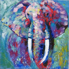 Museum Quality Unique Wall Decor Hand Painting Majestic Elephant Oil Painting On Canvas,realist animal elephant oil painting