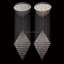 Zhongshan lustre K9 crystal Messenger wire technology project pendant lamp