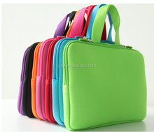 "13""Pure Color neoprene Laptop Sleeve Case Bag Cover with hidden handle"