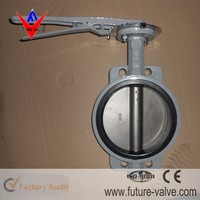 Cast Iron JIS 10K Handle Lever Operated Butterfly Valve