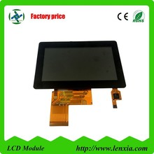 TFT display 4.3 inch lcd screen with 300 cd/m2 luminance 40 PIN