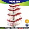 A091 new microwaveable food grade 4pcs plastic food container set shantou viassin
