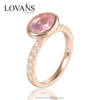 Jewelry Exhibitors Simple Gold Ring Designs Gemstone Ring RIPY051-6