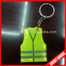 hot sale reflective promotion gifts keychain with custom design