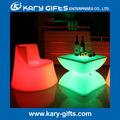 Brillante muebles de la barra del LED, barra del LED mesa, sillas de bar