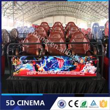 Small Invest Big Profit Playground Equipment Entertainment Park 5D Cinema 5D Theater 5D Movie 5D Chair 5D Seat