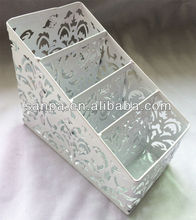 Hangzhou Engraved Metal Card Holder Desk Organizer Box
