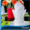weisdin blanco bordado de la boda servilleta plegable flor