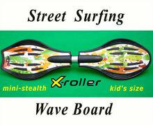 2 wheels plastic street surfing drift skateboard inline skates