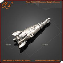 Over 20000 Custom lucky missile shaped charm Garment wholesaler