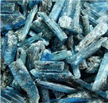 Azul rough cianita piedra, materia prima cianita