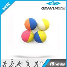 2015 custom logo double color hollow 60mm rubber high bouncing ball