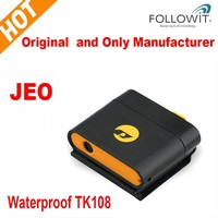 Hot selling Cheap Waterproof Mini GPS Tracker TK108 for dog/cat magnet Cover for Car tracking on phone google map