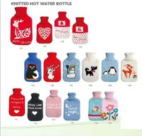 Knitted Hot Water Bottle Cover christmas water bags Fancy Bottle Cover and logos are welcome