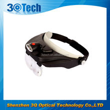 DH-87003 high quality promotion magnifier head visor magnifying glass with light