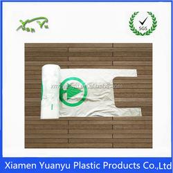 Wholesale biodegradable plastic t-shirt bag on roll