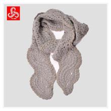 Para mujer mano de punto de ganchillo de la bufanda