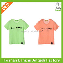 OEM Service Supply Type Children Age Group V-neck t-shirt