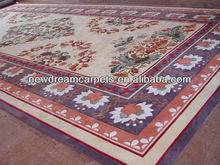 Foshan New fashion design 100% newzland wool handmade carpet rug
