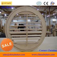 Unique louver window, oval shutter window, custom round shutter