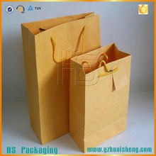 Recycled brown/white grocery kraft paper bag for wholesale