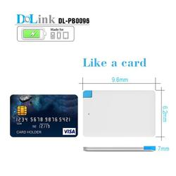 Ultra Slim 7mm Built-in Cable 2500mAh Credit Card Size Power Bank