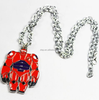 New Big Hero 6 Armored Baymax necklace red pendant necklace