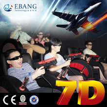 Vivid animition films in 7d movie theater with special effects