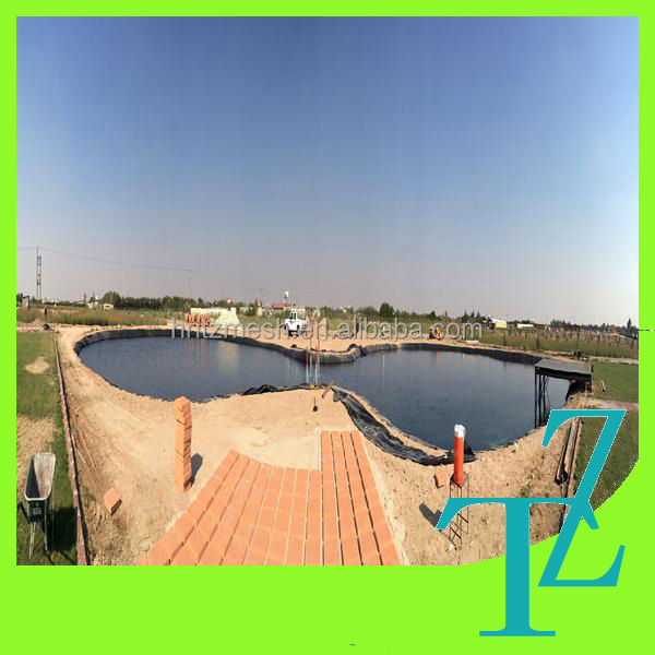 Plastic fish farm geomembrane pe fish pond liner for for Pond liner for sale