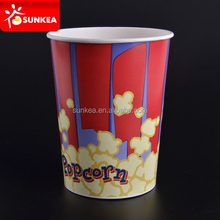 600ml 800ml 900ml 1300ml disposable paper popcorn cup