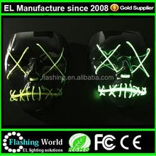 Light Up Glow Mask ,Light Up Rave Mask,EL Wire Party Mask
