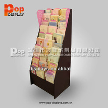 floor display stand corrugated shelf for brochures