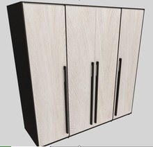 High class modern bedroom solid wood cabinet wardrobe