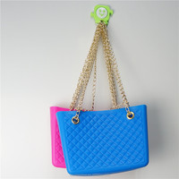 silica gel jelly bag silicone rubber shoulder long strap bag