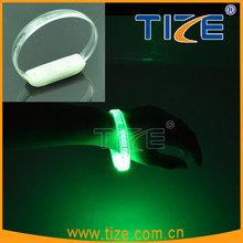 Laser Engraved LED Flashlight Wristband TZ-W230 flashing led silicone wristbands