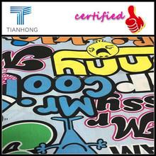 Graffiti printed poplin/cotton poplin fabric construction/American pop design printing