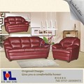 #911 muebles de caña comprar de Foshan rojo de cuero marrón sillones puff