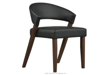 Modern Home Furniture Oak Solid Wood PU Leather Dining Chair