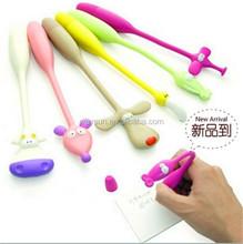 Fashion Cute Lovely bendable animal flexible ball pen