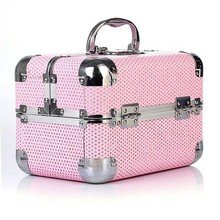 Pink superior carrying cosmetic case storage box RZ-SC-109