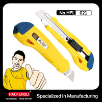 HFL-Z221-02 18MM ABS Thick Handle Rough Surface Utility Cutting Sharper with Locking Screw