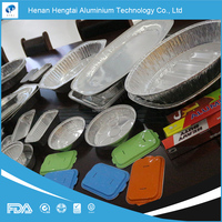 factory different aluminium tray size for food packing(FDA, SGS, HACCP, KOSHER certificate)