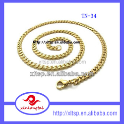 New gold chain design stainless steel small brass chain for men